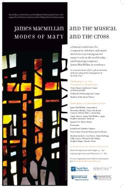 Macmillan at Notre Dame sacred music conference