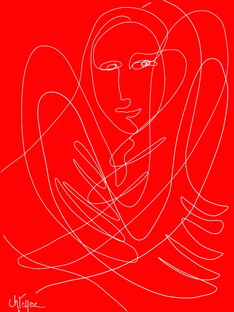 angel doodle red 2 *